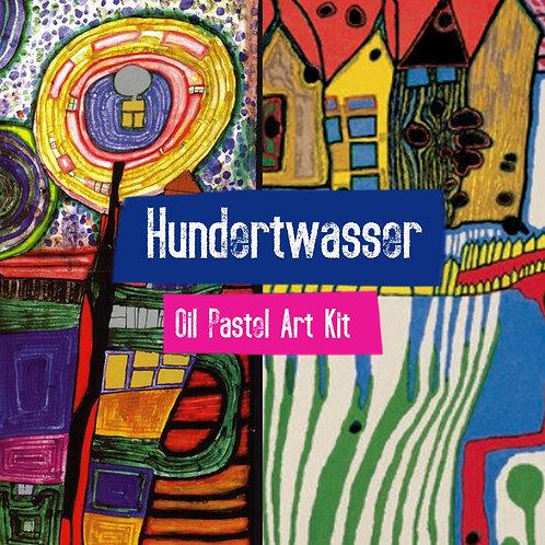 Hundertwasser Oil Pastel Art Kit