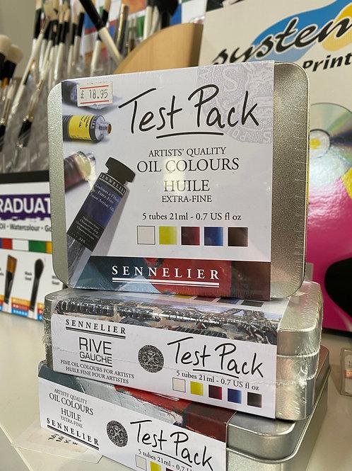 Sennelier Artist Oil Test Pack - 5 x 21ml Tubes