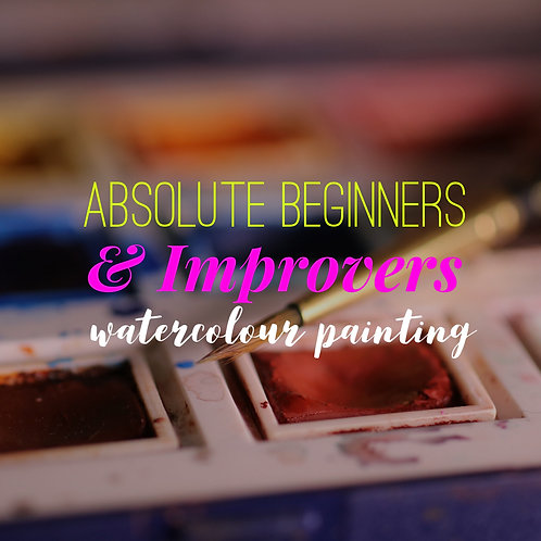 Absolute Beginners & Improvers In Watercolour Painting: 28th February