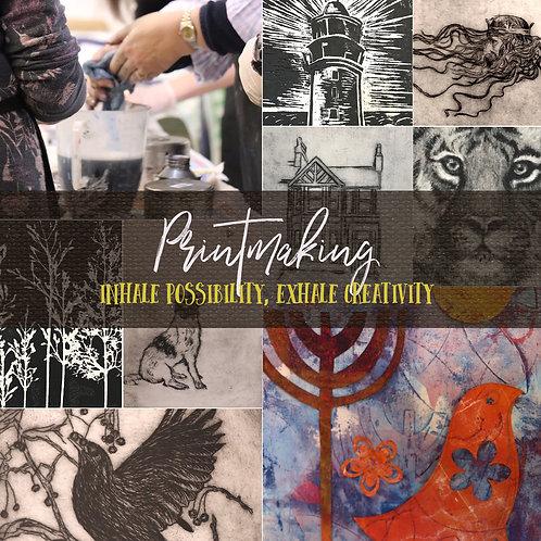 ★ Printmaking Beginners and Improvers - Adult Art Workshop: TBC September 2021