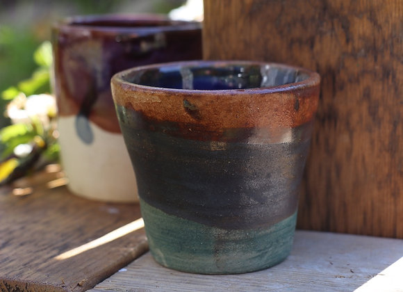 Hand thrown stoneware Pot: Island Landscape