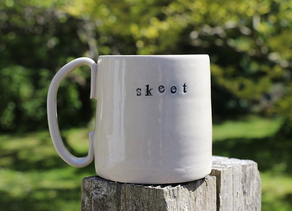 Hand Thrown Mug: Skeet + Island sky
