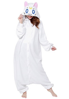 Kigurumi Onesie Sailor Moon Artemis White Cat