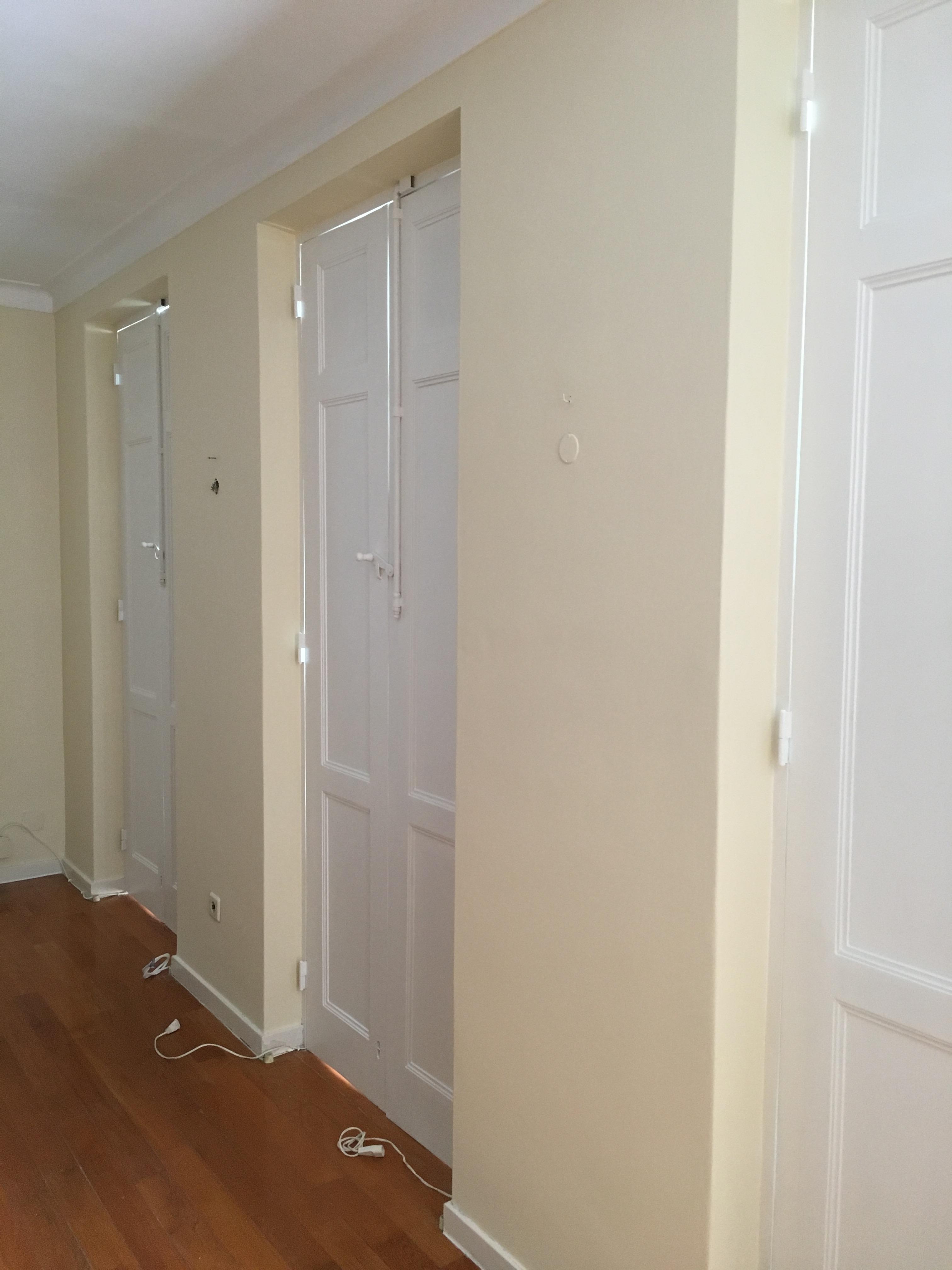 pintura de paredes, tetos e janelas
