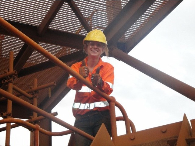 Working at the Iron Ore Mine in Western Australia.