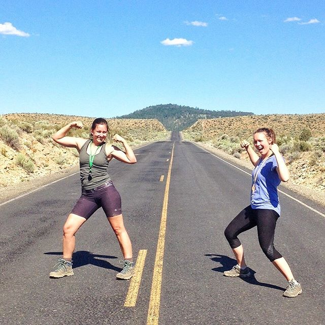 Women who hike together, stay together.