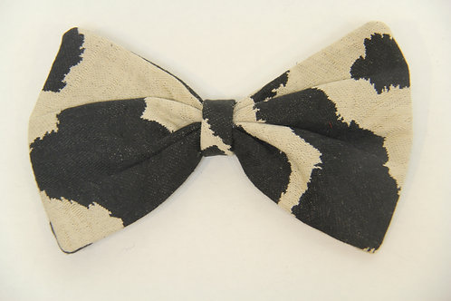 cow printed bow tie