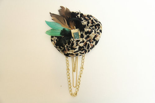 cheetah print brooch
