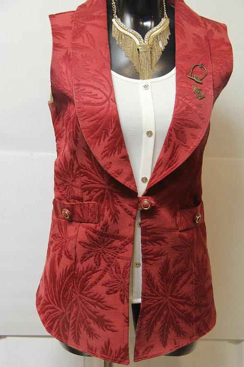 shawl collar textured vest