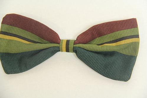 multi colored strip bow tie