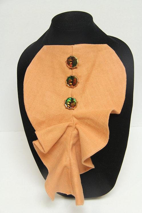 tangerine pin on jabbott neck piece