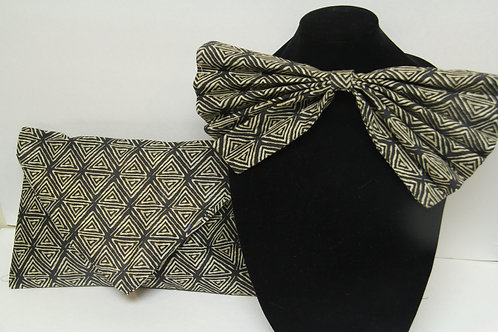 african inspired big bow tie with purse