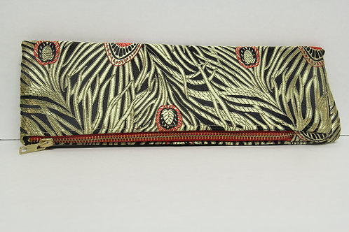 Asian inspired fold over clutch