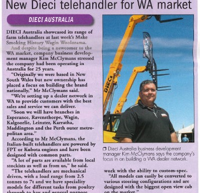 A New Telehandler for the WA market