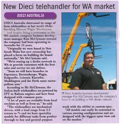 A New Telehandler for the WA market