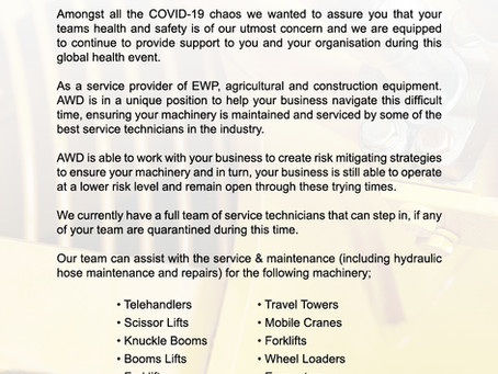 Here when you need it most -  COVID-19 Business Update
