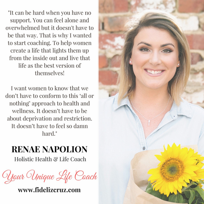 Keeping it real, no fluff approach to wellness with Coach Renae Napolion