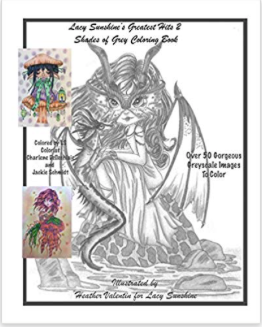 Shades Of Greyscale Greatest Hits Instant Download Coloring Book Volume2
