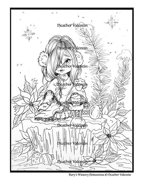 Rory's Wintery Poinsettias