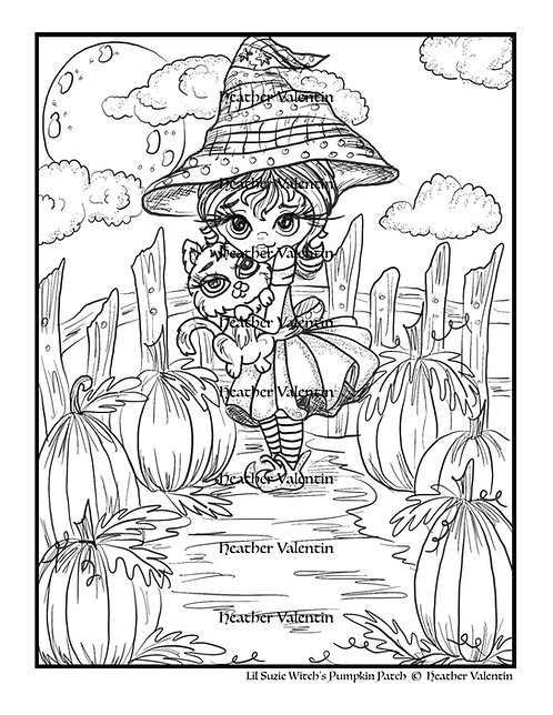 Lil Suzie Witch's Pumpkin Patch