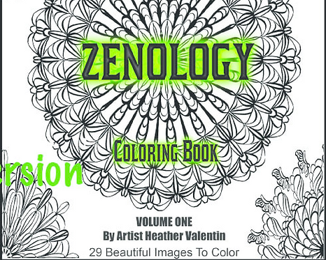 Zenology Mandalas Instant Download Coloring Book
