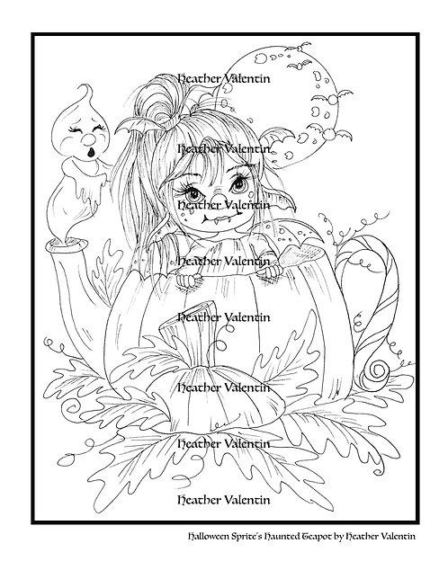 Halloween Sprite's Haunted Teapot