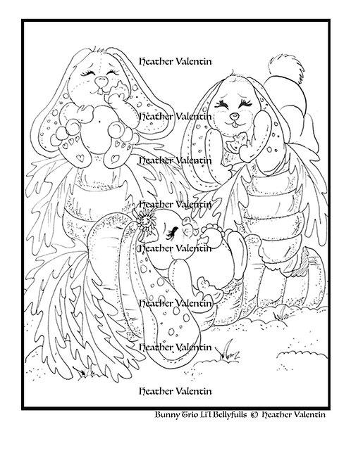 Bunny Trio Li'l Bellyfulls