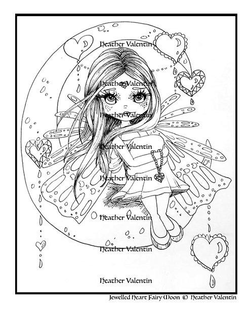 Jeweled Heart Fairy Moon