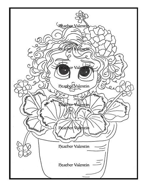 Gerry Geranium Flower Pot Pretty
