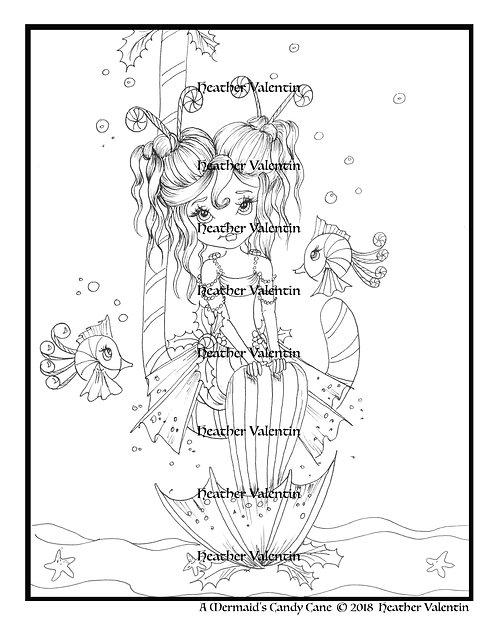 A Mermaid's Candy Cane