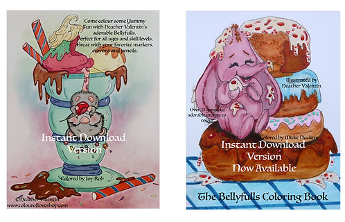 The Bellyfulls Coloring Book Instant Download Version