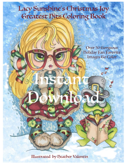 Heather Valentin's Christmas Joy Greatest Hits InstantDownload Coloring Book