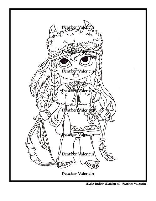 Maka Indian Maiden