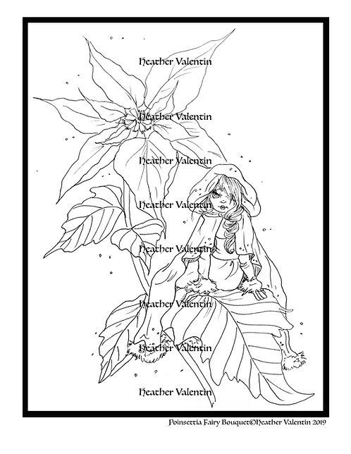 Poinsettia Fairy Bouquet