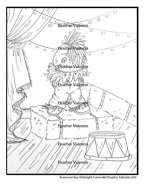 Scarecrow Boy Midnight Carnival