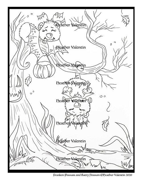 Franken-Possum and Batty Possum