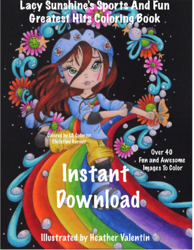 Heather Valentin's Sports and Fun Greatest Hits Coloring Book Instant Download