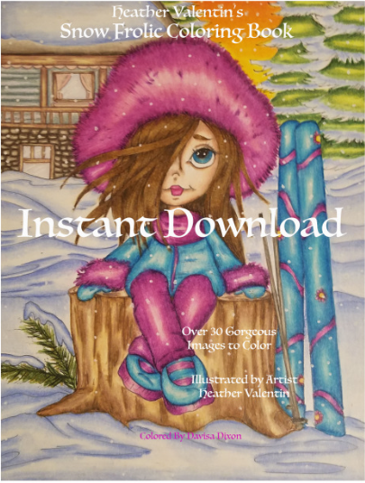 Heather Valentin's Snow Frolic Instant Download Coloring Book