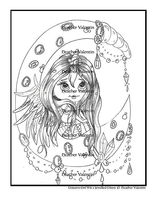 Unicorn Girl Wix's Jeweled Moon