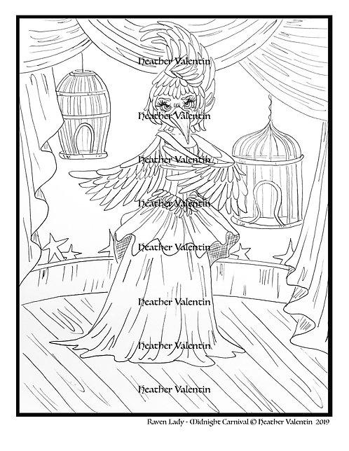 Raven Lady Midnight Carnival