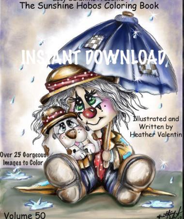 Sunshine Hobos Instant Download Coloring Book Volume50