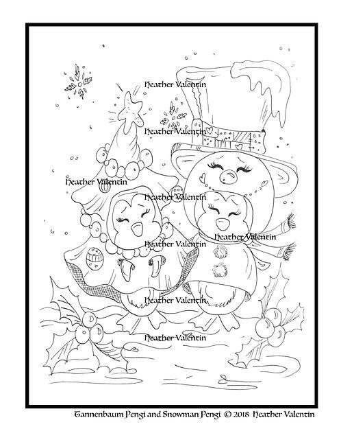 Tannenbaum Pengi and Snowman Pengi