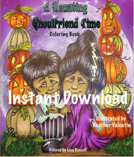 A Haunting Ghoulfriends Time Instant Download Coloring Book