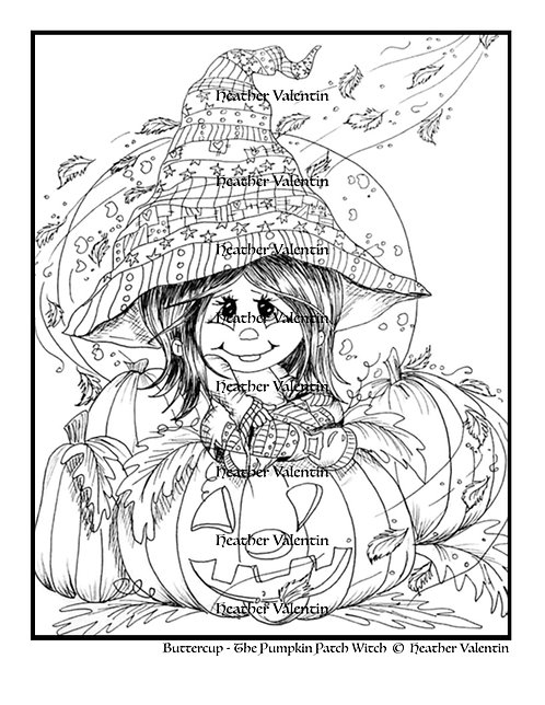 Buttercup the Pumpkin Patch Witch