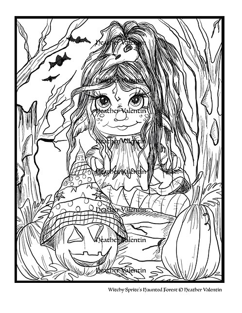 Witchy Sprite Haunted Forest
