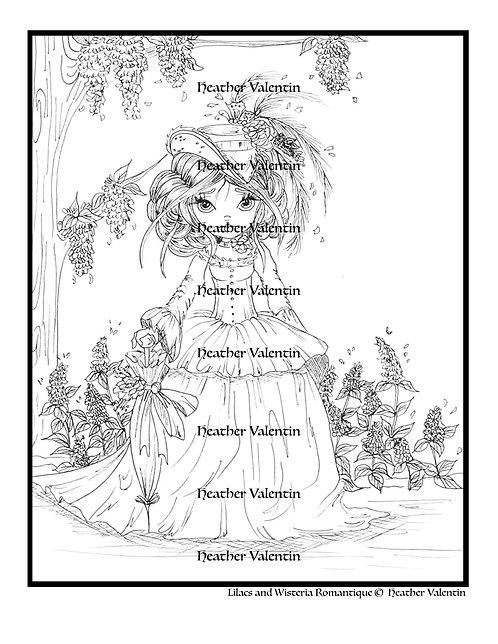 Lilacs and Wisteria Romantique