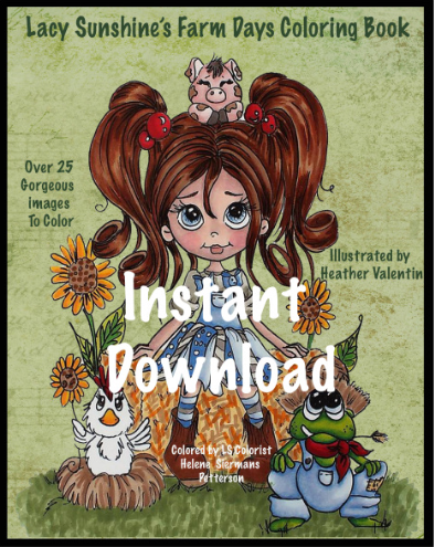 Farm Days Instant Download Coloring Book
