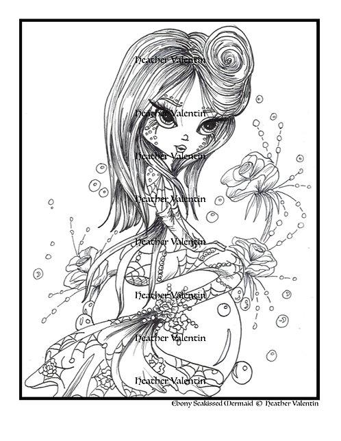 Ebony Sea-Kissed Mermaid