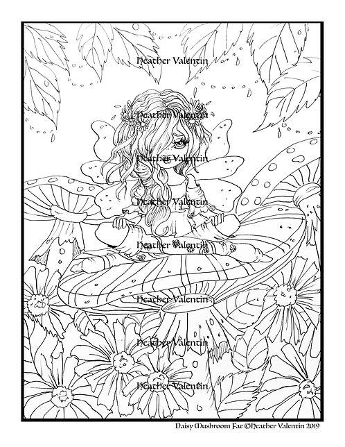 Daisy Mushroom Fairy