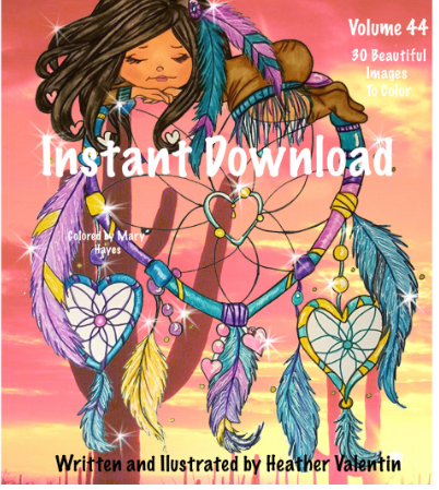 Southwest Indians and Dreamcatchers Instant Download Coloring Book